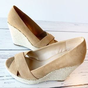 VINCE CAMUTO Suede Wedge Shoes